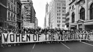 Women of the world unite. Women fight for equality in America. A New York March, 1970.
